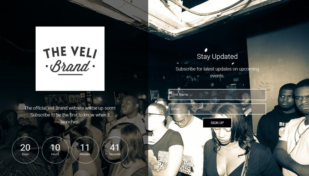 veli website screenshot